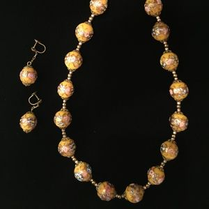 Jewelry - Venetian Glass Necklace & Earring Set